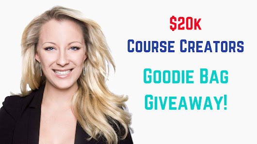 $20k Course Creators Goodie Bag Giveaway