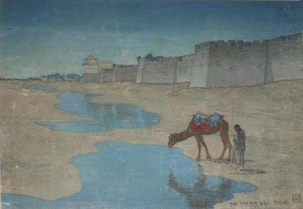 File:'Tartar Wall, Peking', woodblock print by Charles W. Bartlett, 1919, Honolulu Academy of Arts.jpg