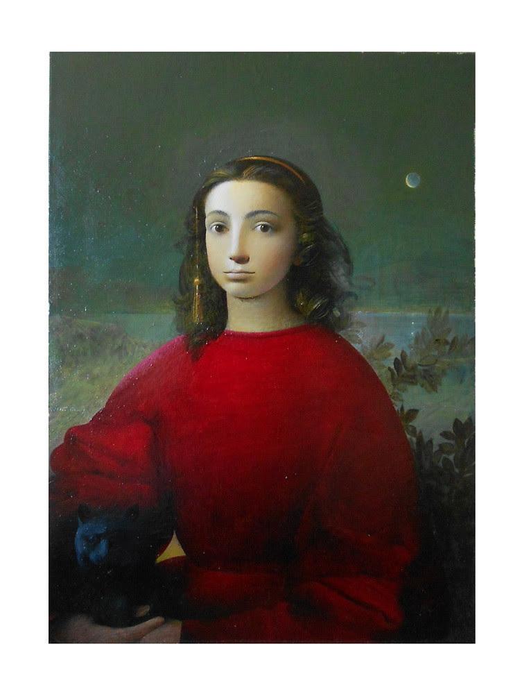 Classical portrait.Artist Sergey Konstantinov.