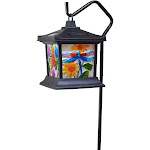 Moonrays 92276 Floral Stained Glass Light