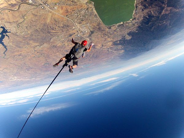 Soaring 12,500 feet above Lake Elsinore, CA, on October 4, 2014.