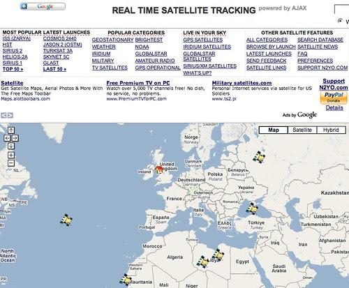 Live satellite tracking http://www.n2yo.com