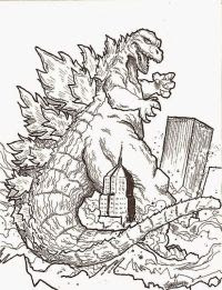 Realistic Godzilla Coloring Pages
