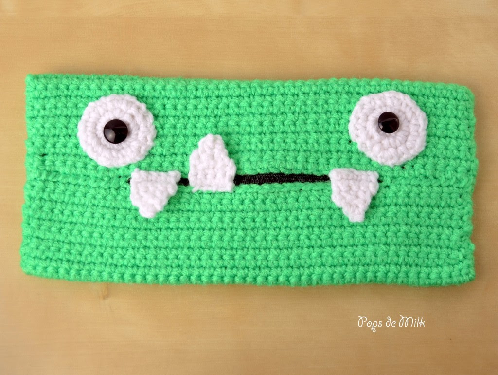 Crochet Monster Pencil Case