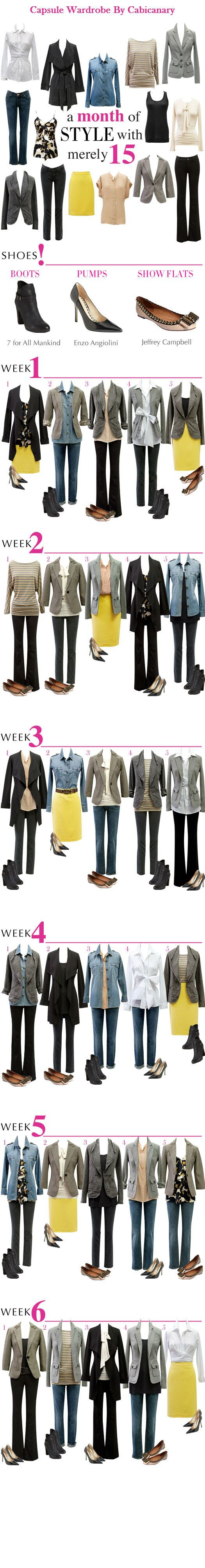 30 Days of Style from 15 Pieces!