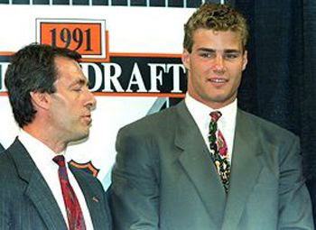 Pierre Page and Lindros 1991 Draft
