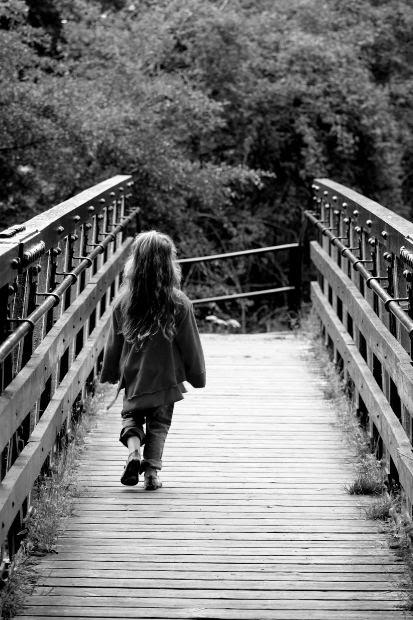 Bridge girl. Photo by Scott Liddell.