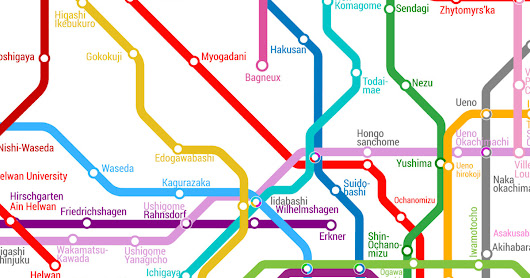 This map combines nearly every metropolitan subway system on Earth.