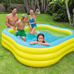 Intex Swim Center Inflatable Family Swimming Pool, Yellow/Blue