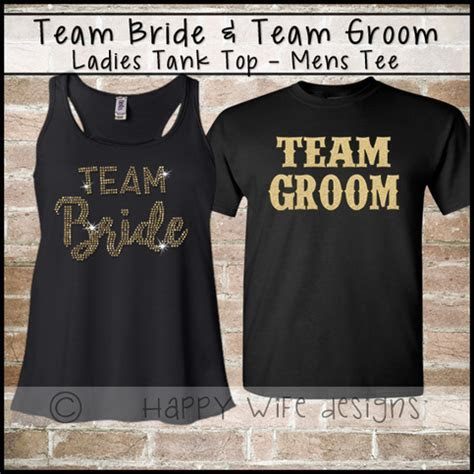 Team Bride and Team Groom Shirt   Bridal Party Tanktop
