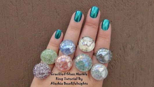 Make Cracked Marble Rings