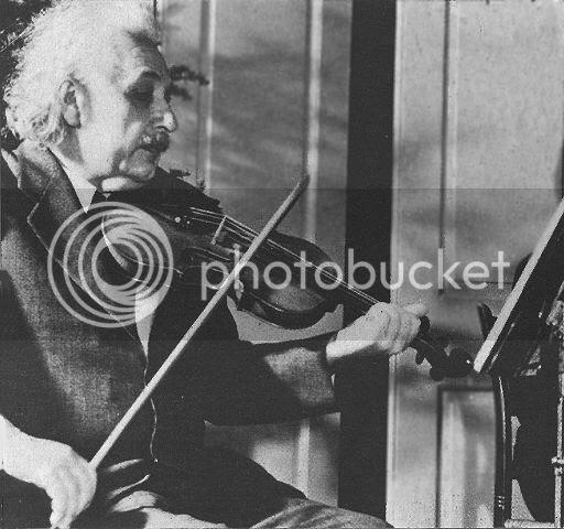 Einstein y violín