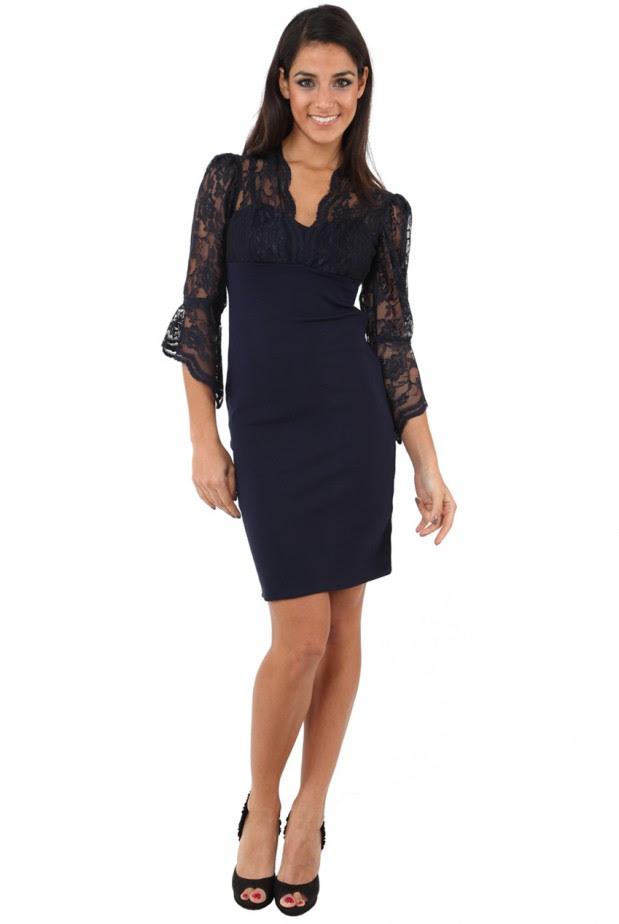 Black Lace Shift Dress1