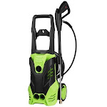 Clearance! Universal Electric Pressure Washer on Sale Soap 1800W 3000 PSI 1.7 GPM with Power Hose Nozzle Gun and 5 Quick-Connect Spray Tips Stdte