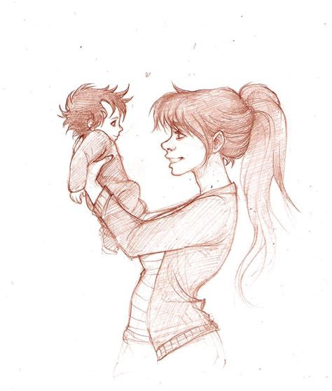 lily  baby harry  httpmickisketchtumblrcom