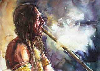 fumando tabaco