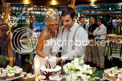 Cake Cutting at Crest Center Pavilion Wedding