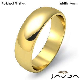 Mens Wedding Band Dome High Polish Solid Ring 6mm 18k Gold