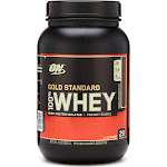 Optimum Nutrition Gold Standard Whey Protein Powder, Double Rich Chocolate - 2 lb jar
