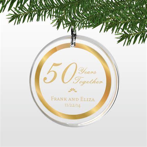 Personalized 50th Wedding Anniversary Round Acrylic