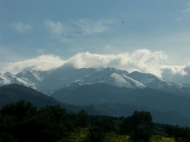 lefka ori covered in snow fournes hania chania