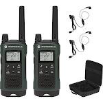 Motorola Talkabout 35-Mile, 22-Channel Rechargeable Two Way Radio Bundle (Pair) - Dark Green