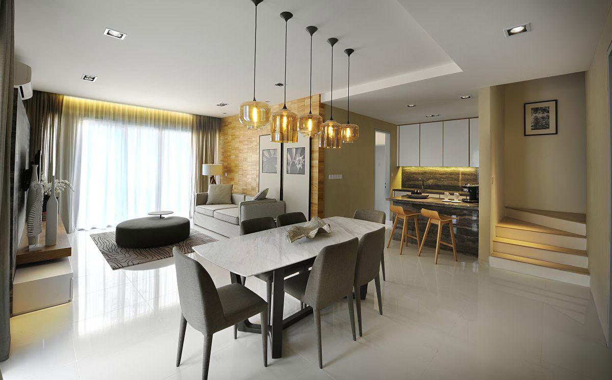 Modern Townhouse in Kuala Lumpur, Malaysia - Hoe Yin Design Studio Interior Design Firm In Kuala Lumpur, Malaysia
