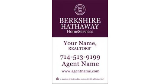 "Berkshire Hathaway For Sale Sign, 18""x12"""