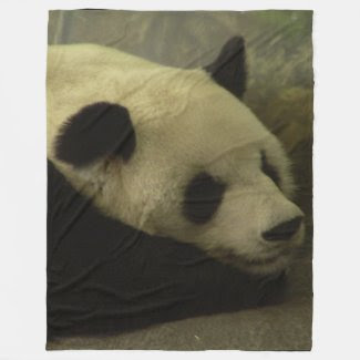 Panda Fleece Throw Blanket Fleece Blanket