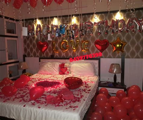 Romantic Room Decoration For Surprise Birthday Party in