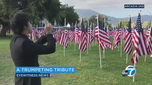 Arcadia High School students volunteer to play taps at Field of Honor |