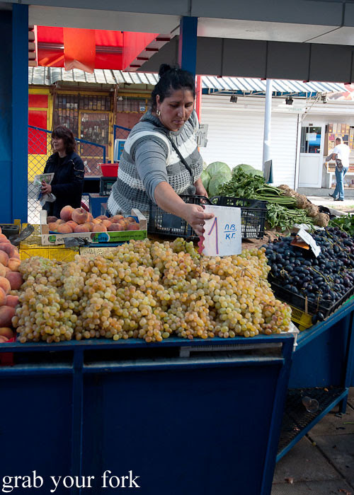 green grapes at Zhenski Pazar Jenski Pazar Women's Market Sofia