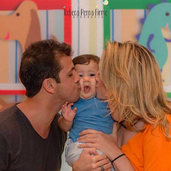 Matheus Braga, Gabriel e Fernanda Gentil (Foto: Rebeca Penna Firme / Reprodução Instagram)