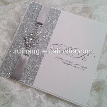 Charming Shiny Silver Glitter Paper Withlove Brooch