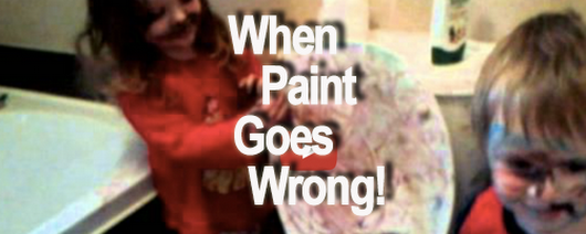 5 toddler paint disasters caught on video - Bumpkin