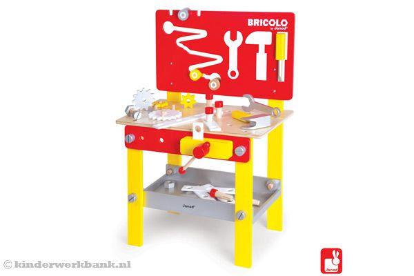 Janod Bricolo Redmaster   Kinderwerkbank.nl
