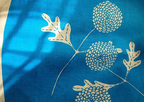 chrysanthemums in blue