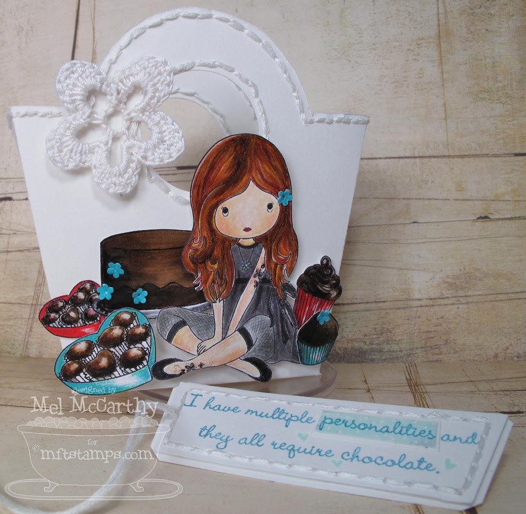 MFT hop Fairy Sweet Chocolate Lovin mel stampz