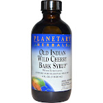 Planetary Herbals Old Indian Wild Cherry Bark Syrup, with Echinacea - 4 fl oz