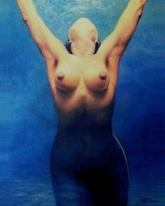 """Bruno Steinbach. """"Lala"""" . Óleo/tela, 100x80 cm, 2004, João Pessoa, Paraíba, Brasil. Acervo do Artista, João Pessoa-Pb Catálogo 123."""
