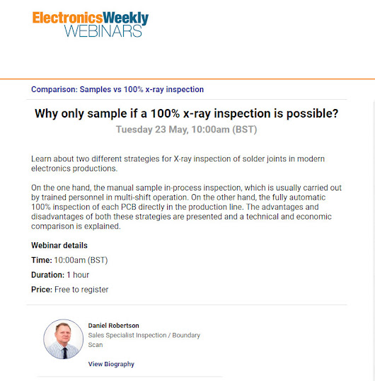 Webinar: Why only sample if a 100% x-ray inspection is possible?