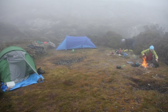 Hiking in tents