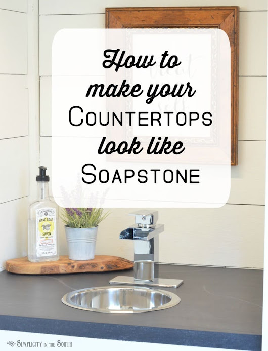 How to Make a Faux Soapstone Countertop Using Latex Paint - Simplicity in the South