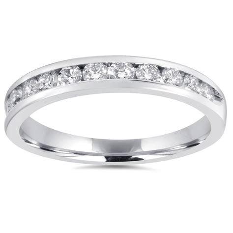 1/2Ct Diamond Wedding Ring 10K White Gold