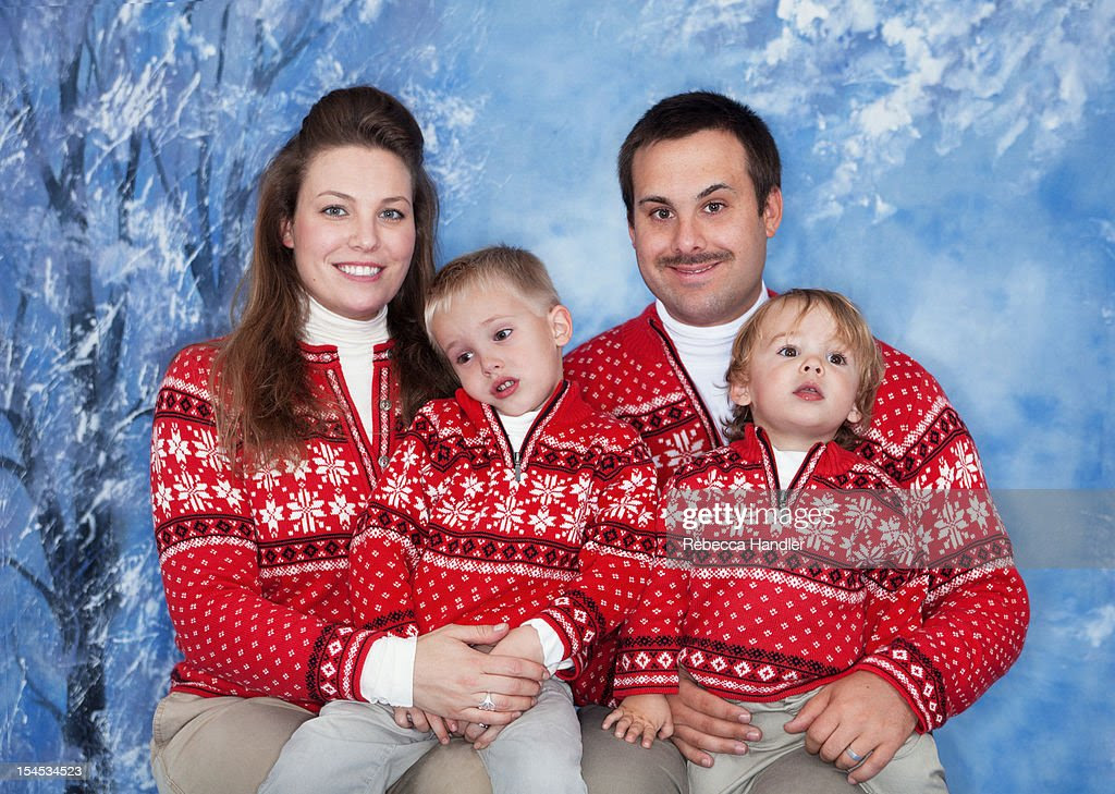 american family with matching outfits stock photo  getty