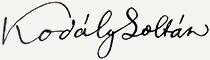 Kodály Zoltán aláírása