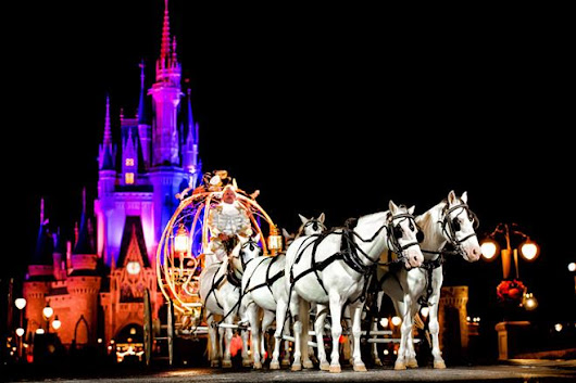 New from Disney Weddings - A fairytale Magic Kingdom wedding at night - There's a Girl in the Castle