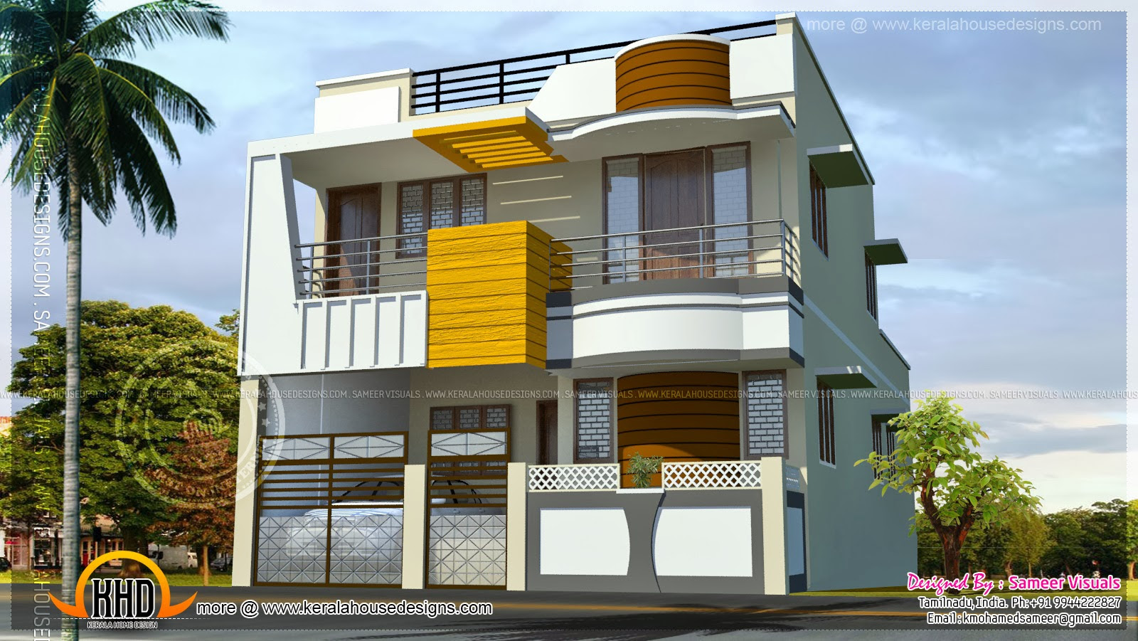 30x60 Modern Decorative House Plan Contemporary House Front