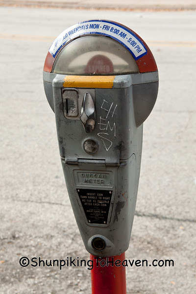 Old-Fashioned Duncan Parking Meter, Rock Island, Illinois