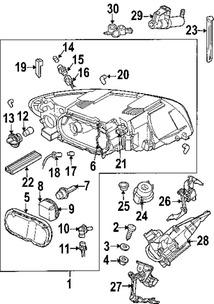 Mazda 3 Headlight Assembly Diagram